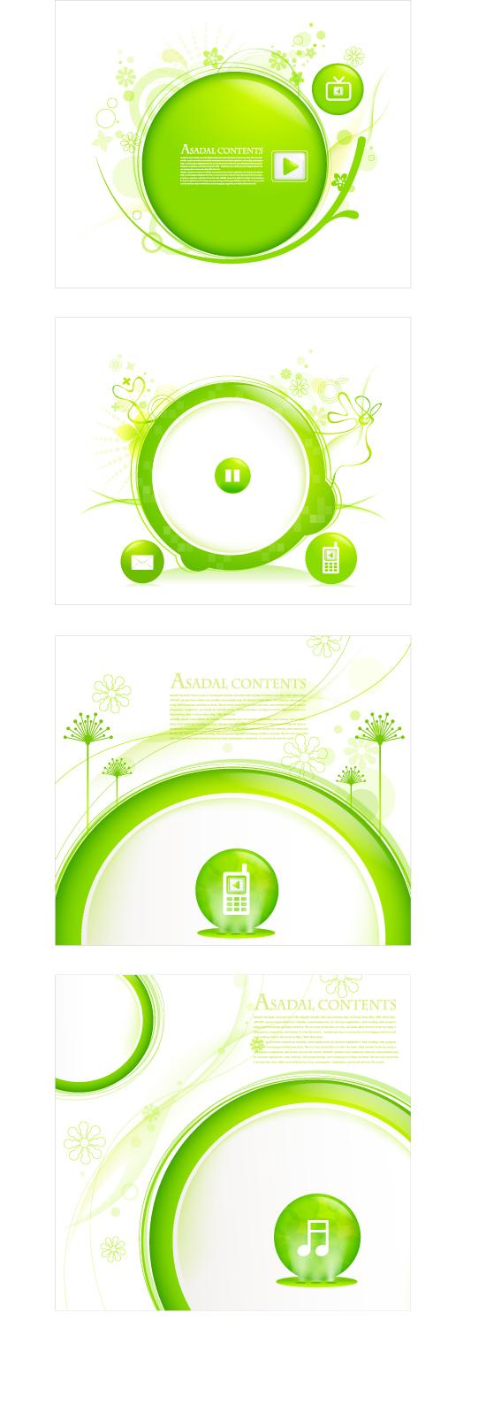 绿色生活边框_矢量花边