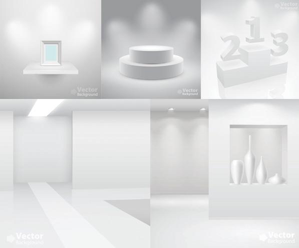 素材分类: 矢量室内空间所需点数: 0 点 关键词: 白色空间展示矢量