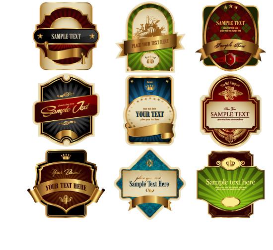 葡萄酒,金边瓶贴,皇冠,光线,欧式花纹,五角星,酒杯,葡萄酒标贴图片图片
