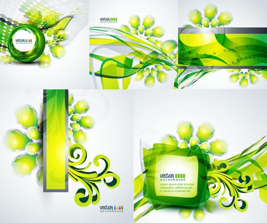 清新绿色,立体花纹,背景,圆球,圆点,边框,花苞,创意背景图片素材,免费