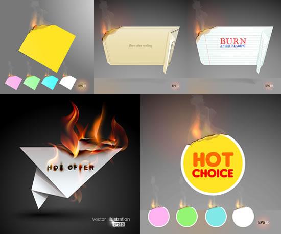 折纸燃烧烟火效果