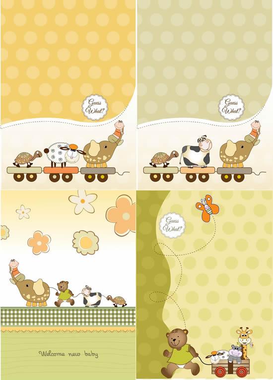 卡通动物玩具背景_素材中国sccnn.com