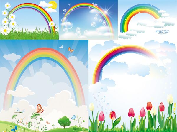 qq皮肤背景图彩虹风景