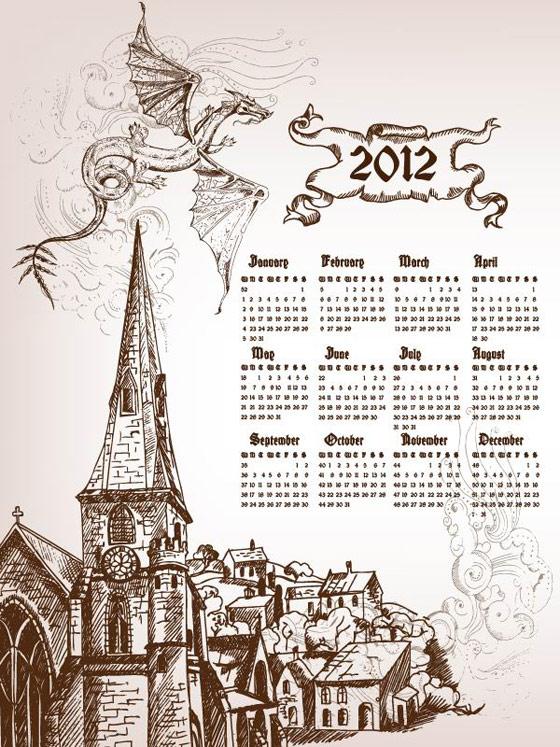 2012年手绘日历