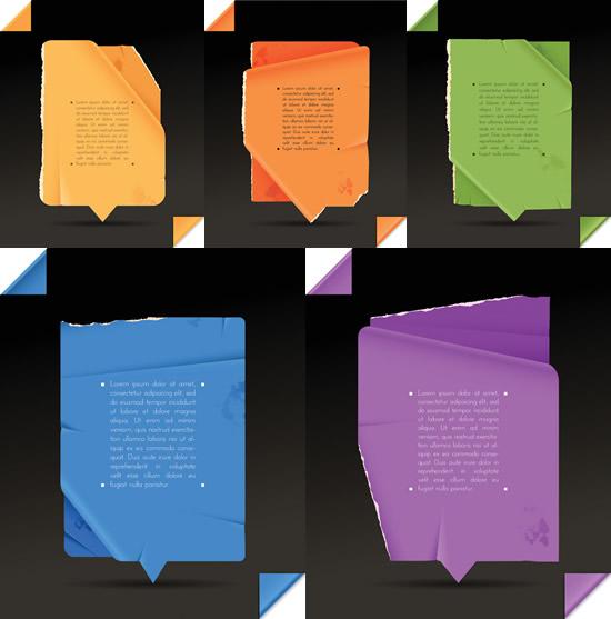 折纸撕痕贴纸_素材中国sccnn.com图片