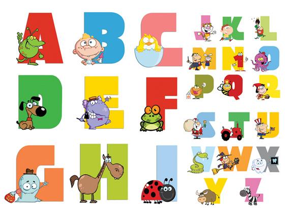 素材分类: 矢量卡通其它所需点数: 0 点 关键词: 2卡通英文字母表,6图片