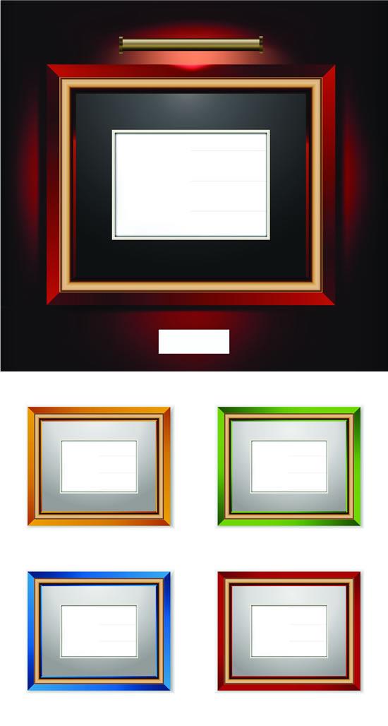 五款彩色木质相框矢量素材,五款相框,彩色木质,油漆边框图片素材,免费边框EPS矢量素材下载