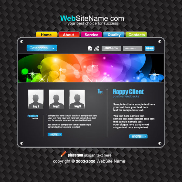 Dynamic Web Page Template 4 Advertising Design