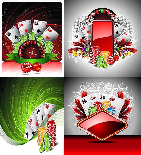 酷炫赌场用具背景