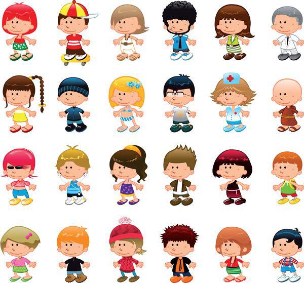 关键词: 卡通欧美儿童形象矢量素材,欧美儿童,卡通形象,人物形象,小孩