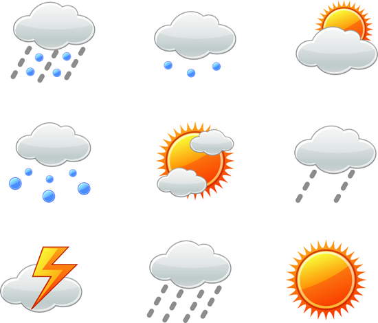 天气情况标志图标