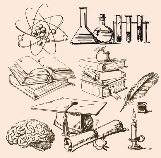 科学实验元素