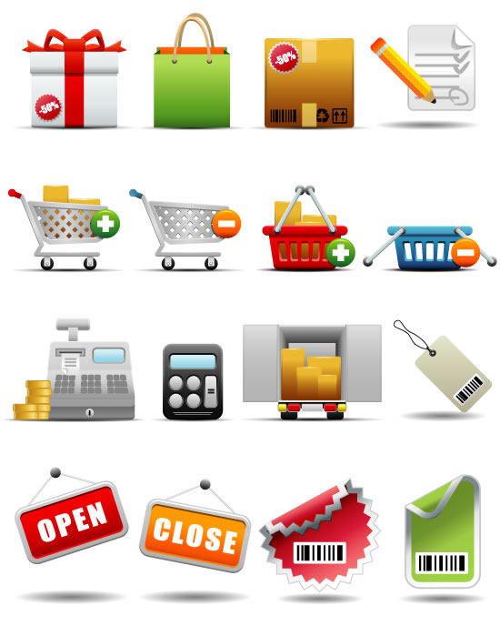 矢量销售图标所需点数: 0 点 关键词: 商场超市图标设计矢量素材