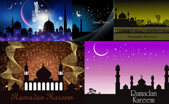 点 关键词: 伊斯兰建筑风景矢量素材,伊斯兰建筑,风景,星空,弯月,星星