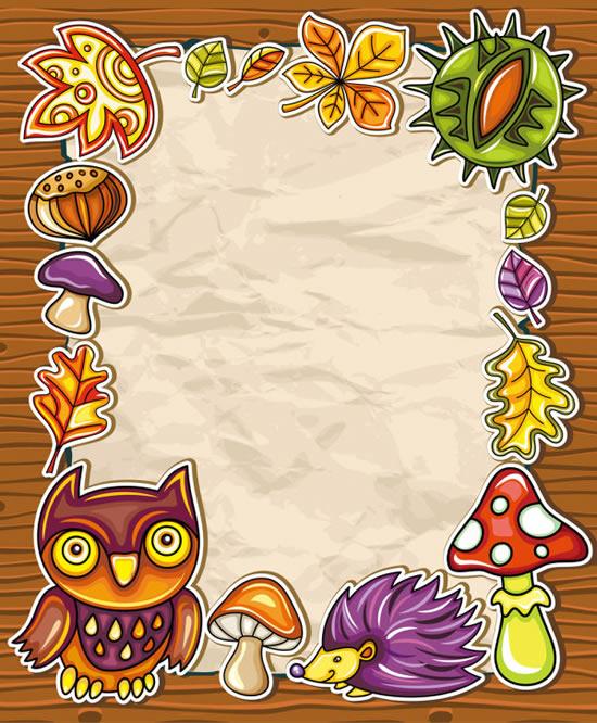 Animal and plant paper-cut border | Pattern border