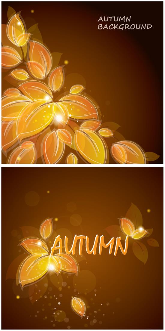 黄色秋叶,线描背景,光晕,光斑,线条,秋天树叶图片素材,免费背景eps