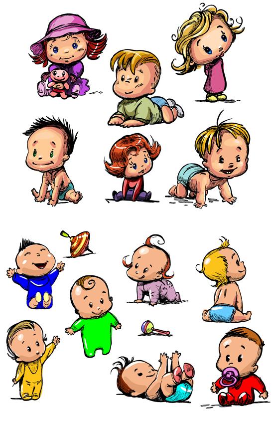 彩绘可爱婴孩