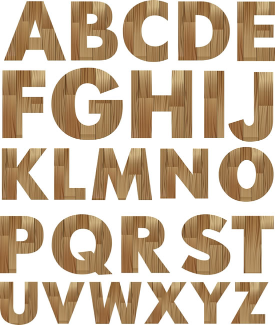 Wood font letters imgkid the image kid has it