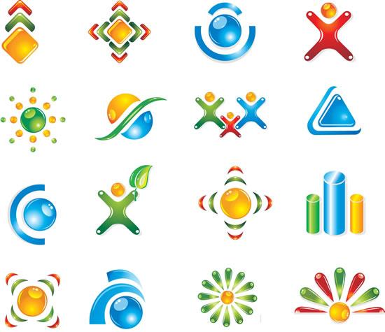 设计矢量图,创意小人,树叶造型,几何图形,logo标志图片素材,图标ai