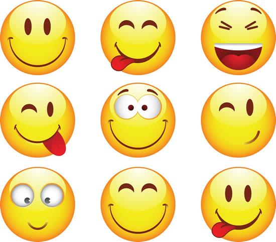 欢快表情,卡通头像,笑脸,吐舌头,可爱头像图片素材,卡通ai矢量素材图片