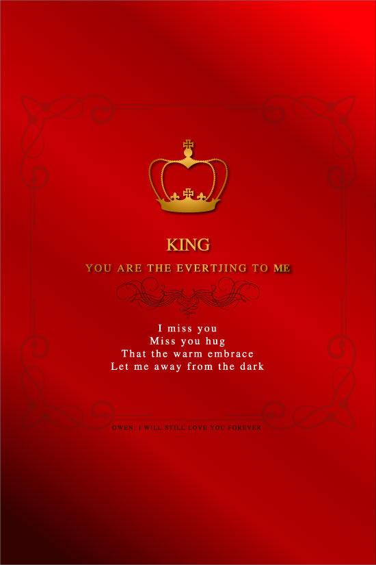 欧式花纹,红色情书,王冠