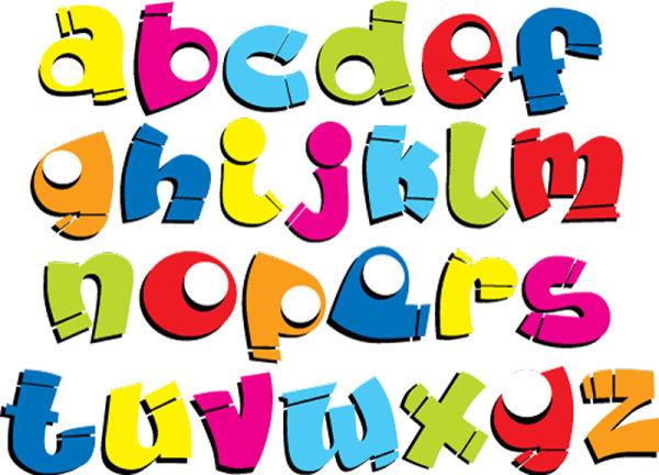 卡通效果字母4