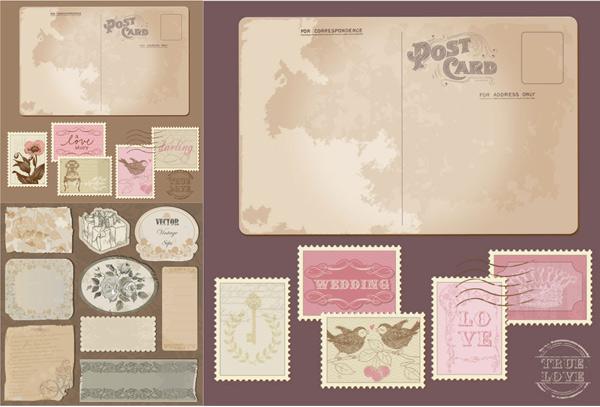 明信片与邮票