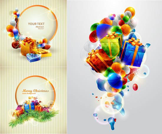 矢量圣诞节所需点数: 0 点 关键词: 多彩圣诞节礼物气球背景矢量素材