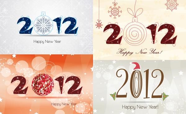 2012圣诞字体