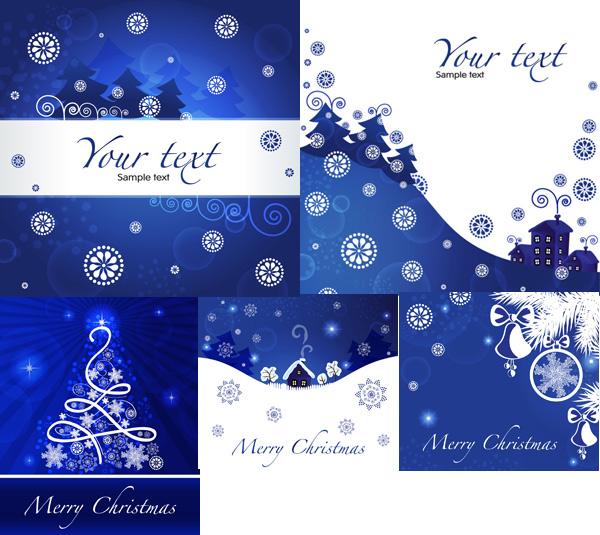 圣诞节蓝色背景
