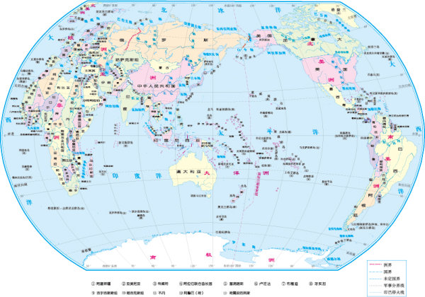 世界地图中文版_素材中国sccnn.com