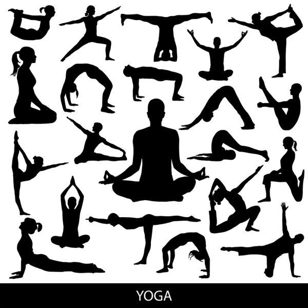 关键词: 瑜伽动作剪影矢量素材,瑜伽,动作,运动,剪影,人影,健身,矢量