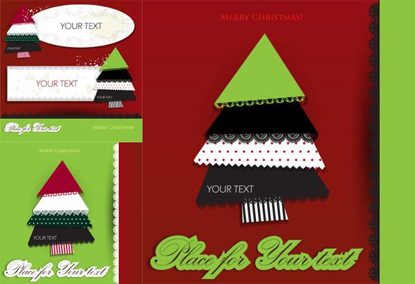 蕾丝圣诞树拼图