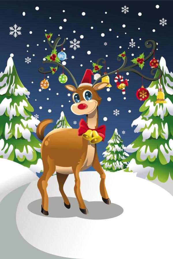 圣诞节驯鹿