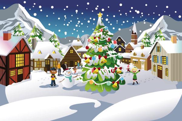 Christmas scene illustration | Vector Festival