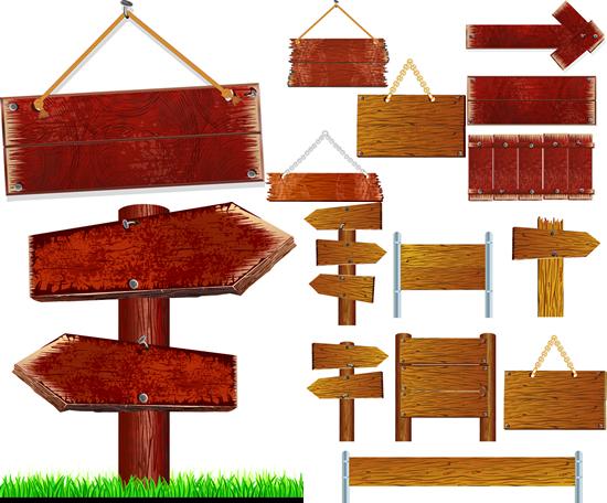 木质指示牌_素材中国sccnn.com