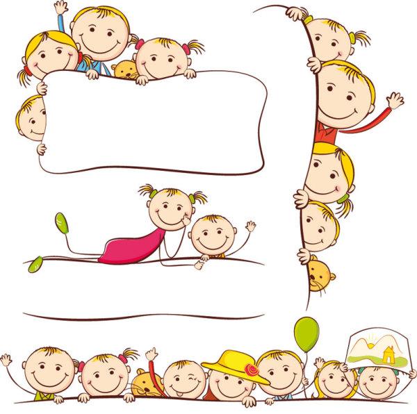 卡通儿童画图片