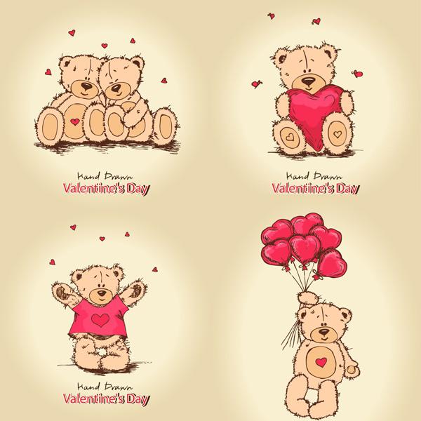 泰迪熊卡通图片大全