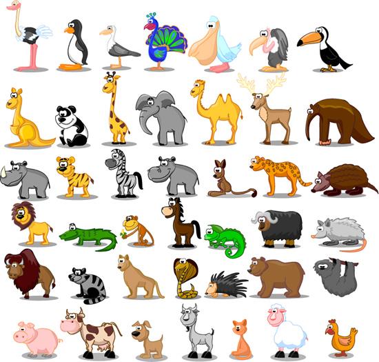素材分类: 矢量卡通动物所需点数: 0 点 关键词: 卡通飞禽走兽矢量