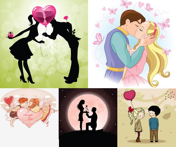 0 点 关键词: 卡通情侣矢量素材,卡通,情侣,蝴蝶,心型,王子,公主,接吻