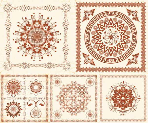 精美欧式花纹矢量素材,精美,欧式,花纹,纹样,花边,边框,边角,纹理