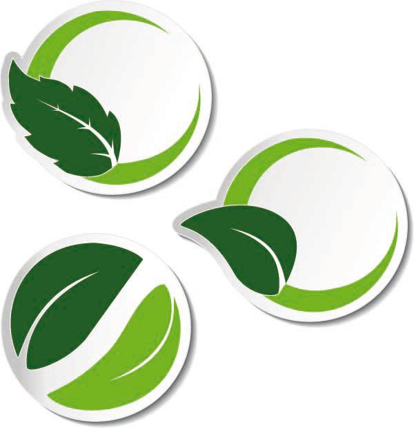 环保绿叶标签
