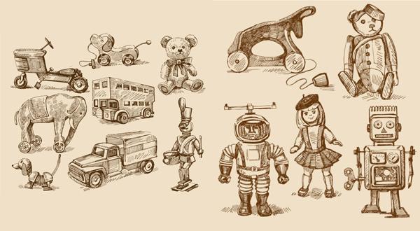 手绘玩具效果图