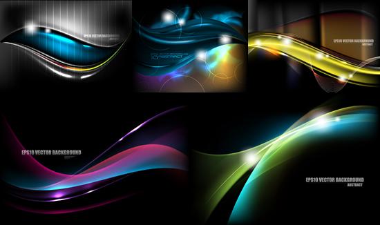 0 点 关键词: 动感绚丽波浪背景矢量素,炫光,光晕,曲线,线条,圆圈