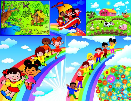 儿童乐园素材_儿童矢量素材-幼儿中国_矢量c求版漫画k图片