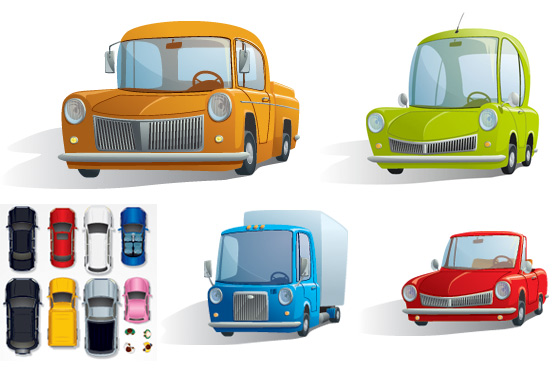 0 点 关键词: 卡通汽车矢量素材,卡通,可爱,玩具,汽车,小轿车,插画汽