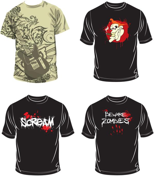矢量服饰所需点数: 0 点 关键词: 个性涂鸦t恤矢量素材,t恤设计,个性图片