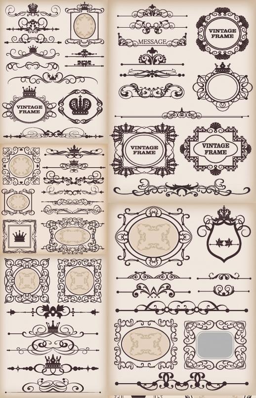 欧式花纹,复古花纹,花纹边框