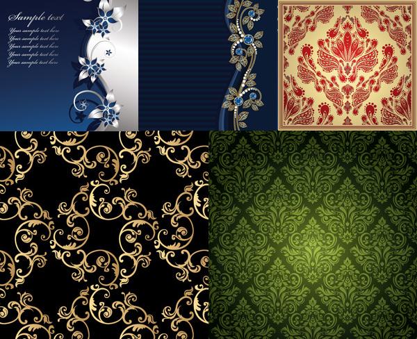 欧式花纹,花纹背景,古典花纹