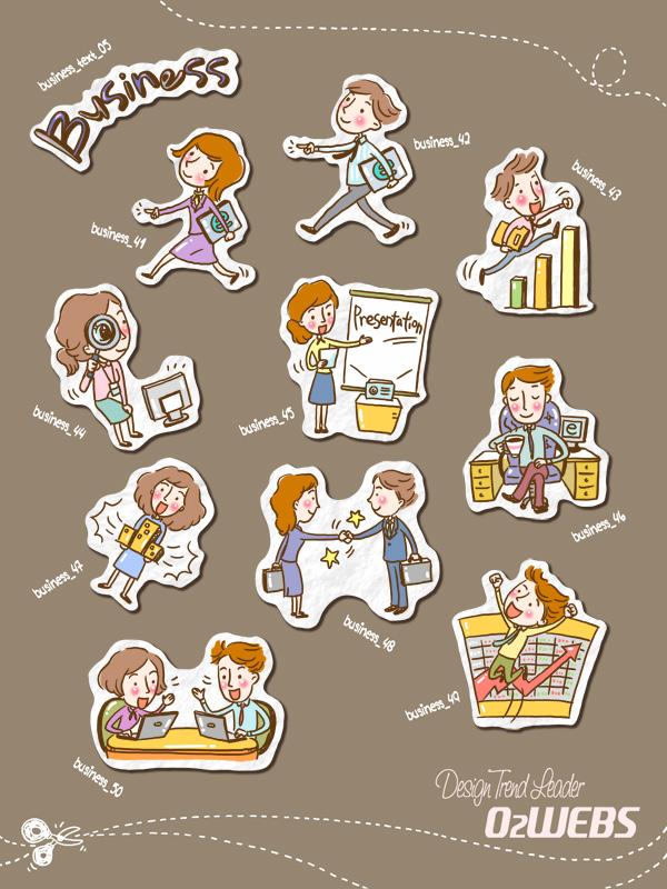 0 点 关键词: 可爱商务人士图标矢量素材,可爱图标,卡通人物,人物